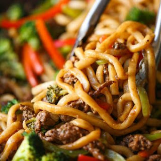 Ground Beef Noodle Stir Fry