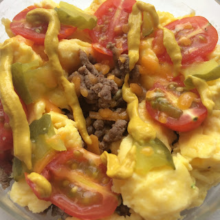 Cheeseburger Eggs {Low Carb, High Protein, Grain Free}