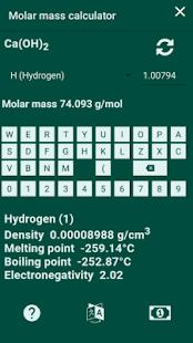 Molar mass calculator. Periodic table. - náhled