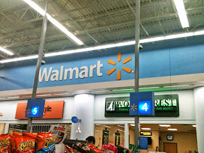 Photo: Our new Wal-Mart has a huge self-checkout location which is awesome.