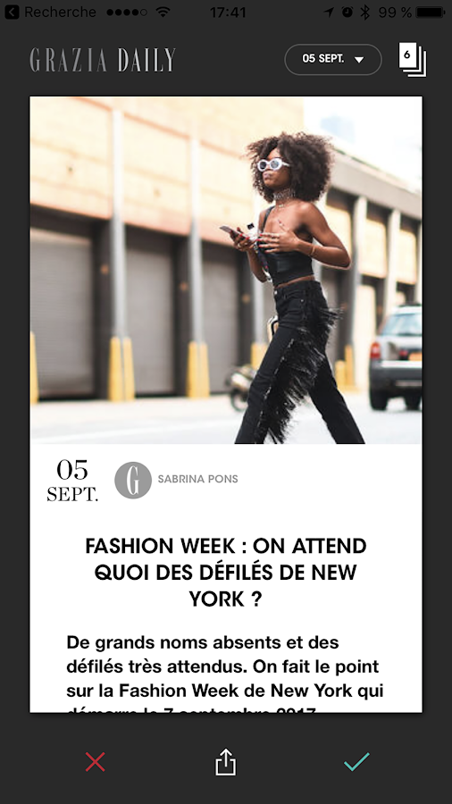 Grazia Daily Fashion Week- screenshot