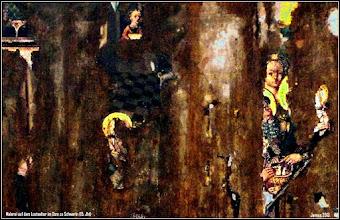 Photo: Reste von Malerei auf dem Altar im Dom zu Schwerin (15. Jht)
