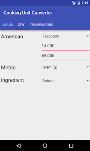 Cook Unit Converter US&Metric- screenshot thumbnail