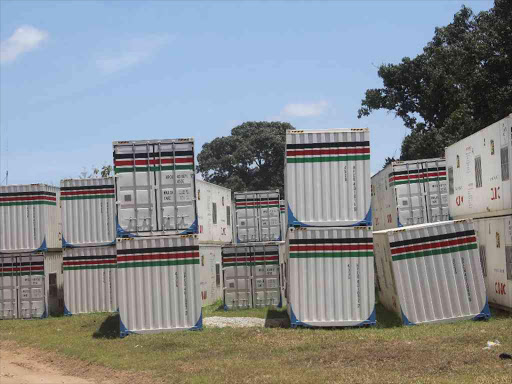 A file photo of some of the container clinics at the NYS Technical College in Miritini, Mombasa.
