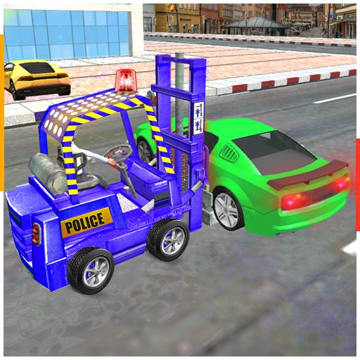 New City Police Parking Forklift Car Simulator
