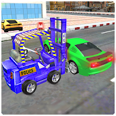 New City Police Parking Forklift Car Simulator