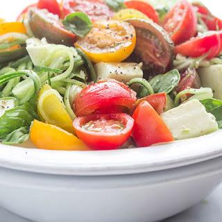 Cucumber Caprese Salad.