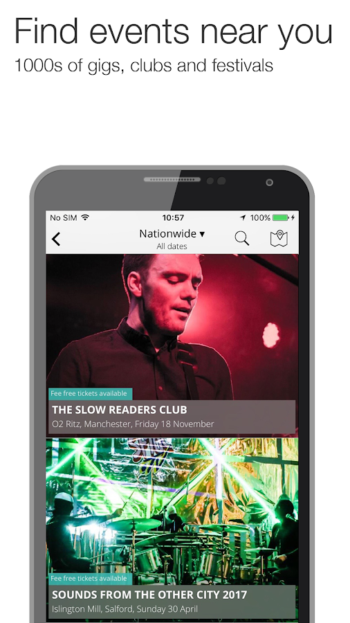 Skiddle: Gigs Clubs Festivals- screenshot