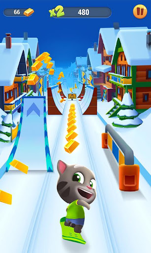 Talking Tom Gold Run 3.2.0.201 APK MOD screenshots 1