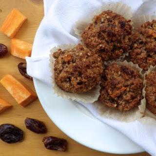 Vegan Sweet Potato Date Muffins.