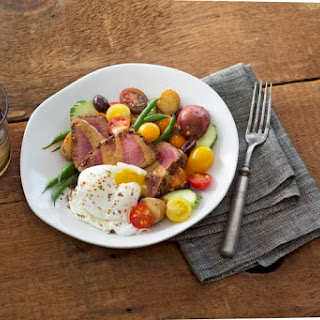 Niçoise Salad with Chia, Citrus and Chili Crusted Tuna