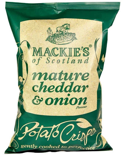 Potatischips cheddarost & lök - Mackies