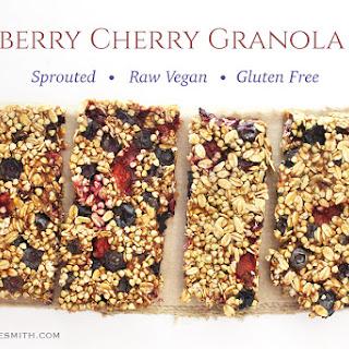 Blueberry Cherry Granola Bars.