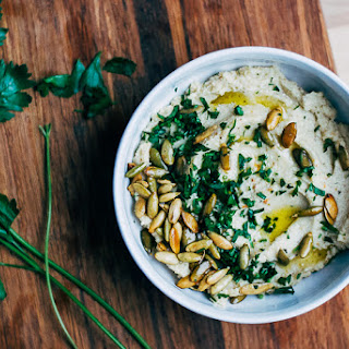 Roasted Cauliflower and Garlic Dip with Toasted Pepitas
