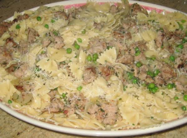 Farfalle Carbonaro With Sausage Recipe