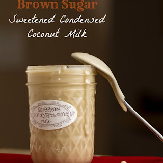 Brown Sugar Sweetened Condensed Coconut Milk.
