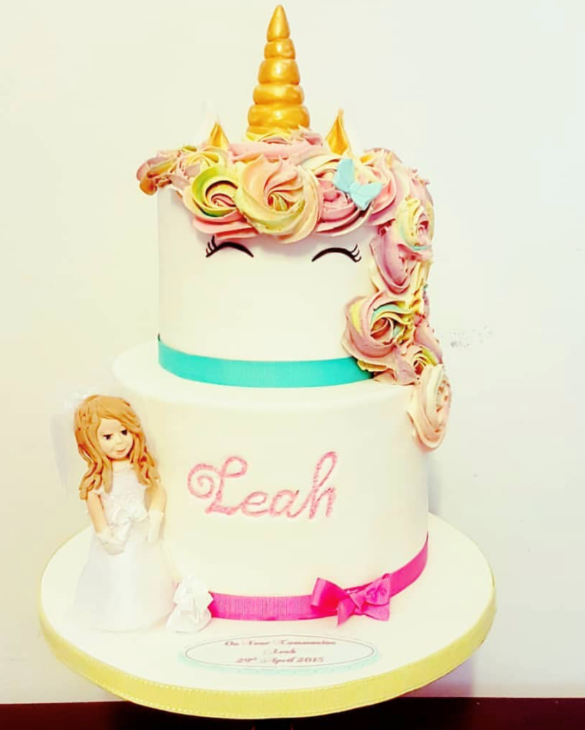 Unicorn Holy Communion cake