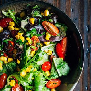 Summer Garden Salad w/ Sweet Corn, Tomatoes + Herbs