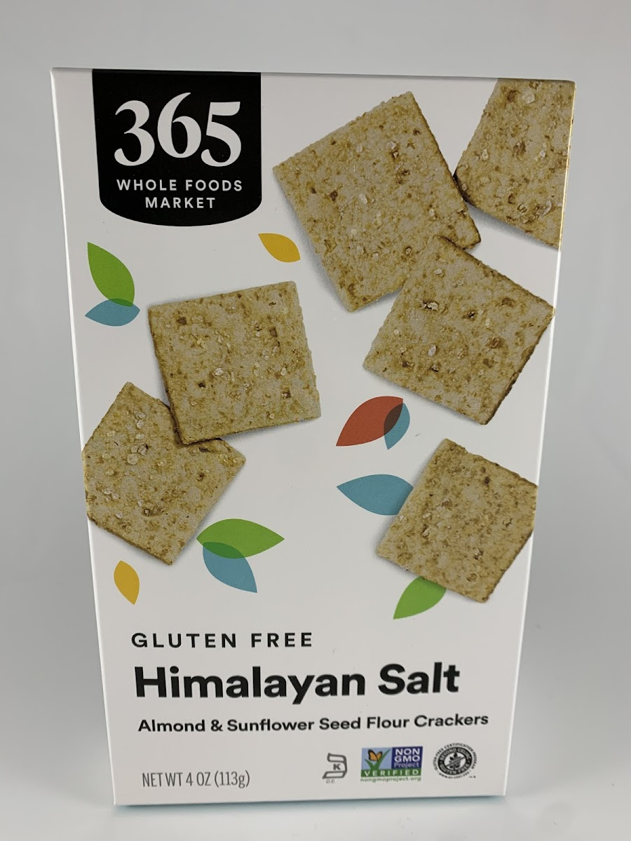 Gluten Free Himalayan Salt Almond & Sunflower Seed Flour Crackers