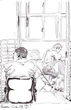 Photo: 門戶洞開2012.06.28鋼筆 在監獄看病可不像在醫院裡,基於戒護安全,這裡沒有隱私,任你是看什麼病,就算醫生叫你脫衣脫褲子,診間的門就是不能關…