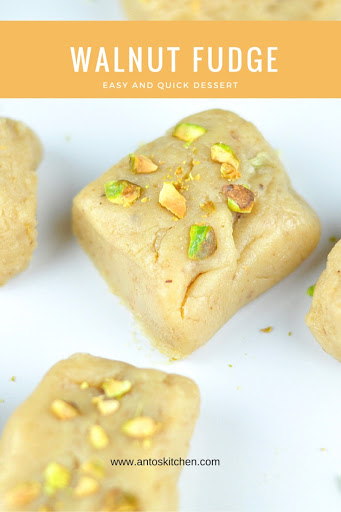 Walnut fudge burfi with condensed milk antos kitchen walnut burfi forumfinder Image collections
