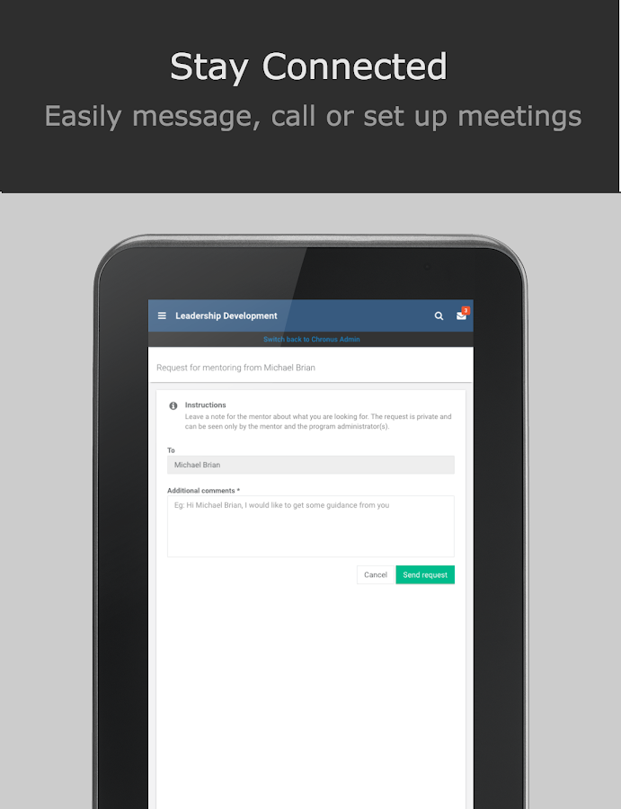 Chronus - Mobile Mentoring- screenshot