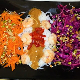 Prawn Noodle Salad with an Asian Peanut Dressing