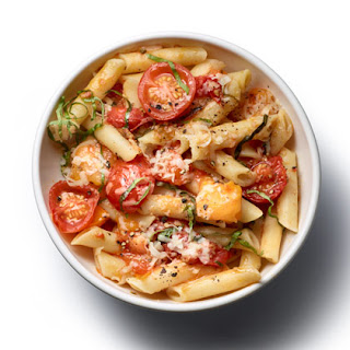 Pasta with No-Cook Tomato Sauce.