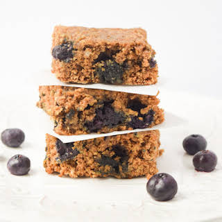 Healthy Blueberry Oat Breakfast Bars.