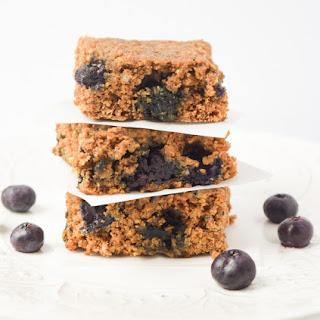 Healthy Blueberry Oat Breakfast Bars.