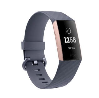 Fitbit Charge 3, Blue Grey/Rose-Gold