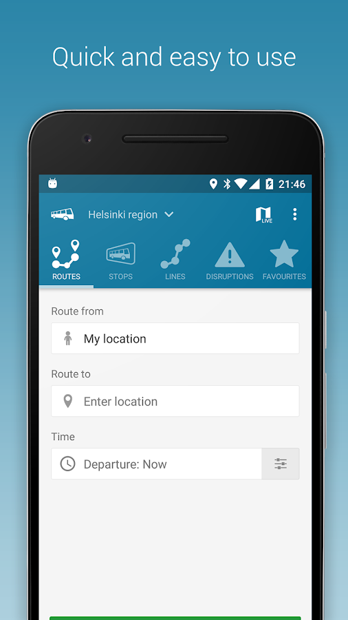 Nysse - Journey planner- screenshot