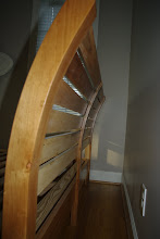 Photo: The back of the headboard showing the 40 inch radius curve of the upper headboard.