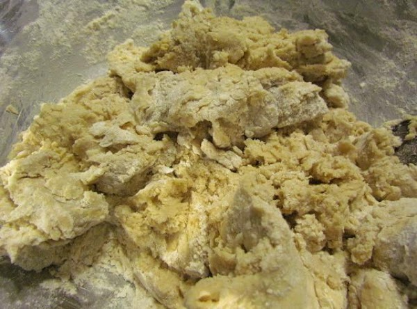Start adding your flour gradually alternating with buttermilk. Make sure to begin and end...