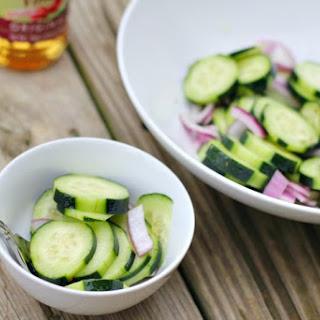 Cucumber Onion Salad Sugar Water Vinegar Recipes