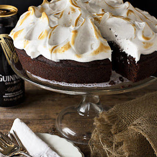 Chocolate Guinness Cake with Cloud Frosting.