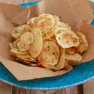 Homemade Potato Chips Made in the Microwave