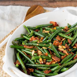 Green Beans Garlic Bacon Almonds Recipes