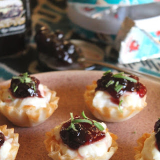 BAKED CHEESE AND JAM PHYLLO CUPS