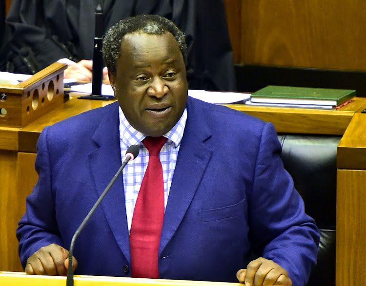 Finance minister Tito Mboweni presenting his 2019 Budget Speech on February 20 2019. Picture: Elmond Jiyane/GCIS​