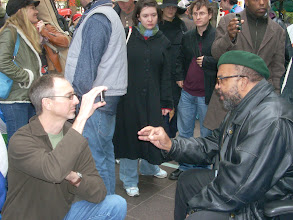 Photo: Ari Armstrong at Occupy Wall Street; photo by Bob Glass; posted with permission by Ari Armstrong.