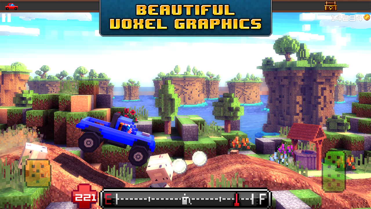 Blocky Roads screenshot #2