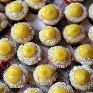 Mini Meyer Lemon Curd Cupcakes