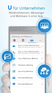 U | Meetings & Webinars Screenshot