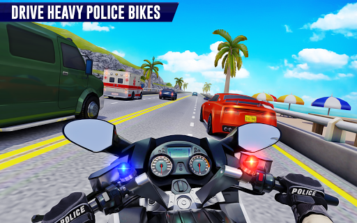 Police Moto Bike Highway Rider Traffic Racing Game modavailable screenshots 1