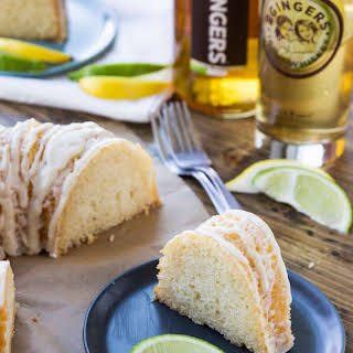 Big Ginger Bundt Cake with Whiskey Citrus Glaze.
