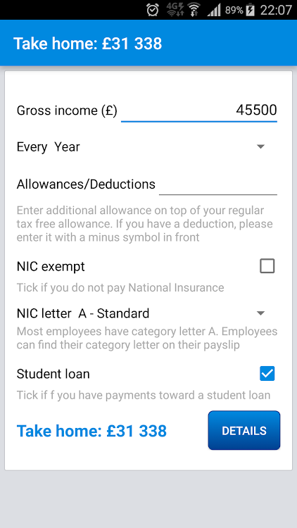 UK Income Tax Calculator 2017/18 – (Android Apps) — AppAgg