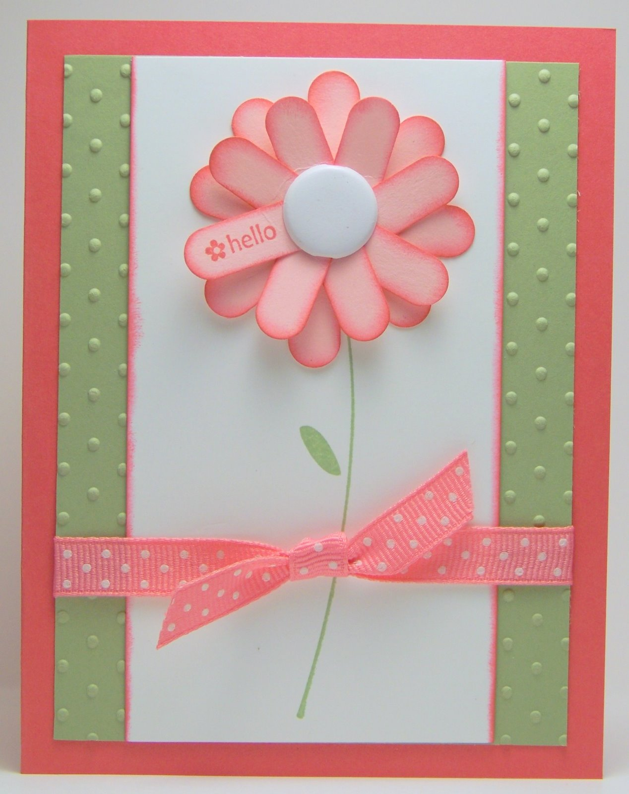 Photo: flower is made with the Stampin up Word Window punch
