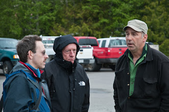 Photo: Peter, Malcolm, and Brad waiting for the float plane to take off