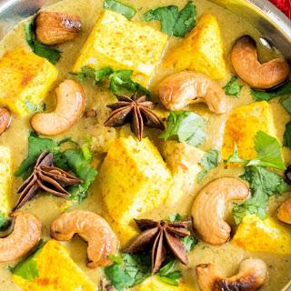 Turmeric Tofu Cashew Curry [Vegan, Gluten-Free].